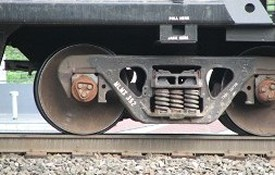 Train on Railroad - Roller Bearing Repair